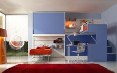 Kids Bedroom Collection – Cute Furniture Pieces for your Kid Bedroom Blue Kids Bedroom Furniture, Modern Kids Bedroom, Cool Kids Bedrooms, Kids Bedroom Designs, Kids Room Design, Awesome Bedrooms, Contemporary Bedroom, Bed Design, Kids Furniture