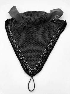 Tie-Down, Charcoal, Black Black Crystals, Charcoal, Horse, Crochet, Handmade, Accessories, Fashion, Crochet Hooks, Hand Made