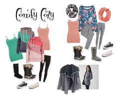 """""""Comfy Cozy"""" by janyclaire29 on Polyvore featuring Splendid, UGG Australia, BKE, BKE core, Eberjey, SOREL, Smartwool, Converse, lululemon and women's clothing"""