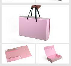 Mulheres de luxo caixa de embalagem de pacotes de extensão do Cabelo Virgem, preto/branco/rosa de cabelo caixas de embalagem, caixas de embalagem de cabelo profissional em Gift Bags & Embrulho Suprimentos de Home & Garden no AliExpress.com | Alibaba Group