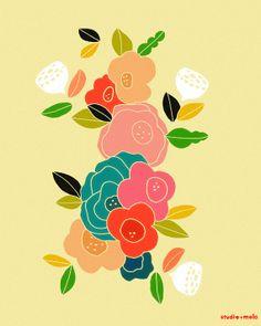 Modern Wall Art Poster  Kitchen Office Art Print  by dazeychic, $20.00