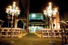 South Carolina Aquarium- Riverside Terrace Ceremony. Design by Pure Luxe Bride. Photography by Reese Moore.