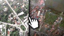 Indrukwekkende interacieve foto's van Tacloban, Filippijnen vóór en na de tyfoon. Help de slachtoffers van orkaan Haiyan: geef-nu.giro555.nl #haiyan