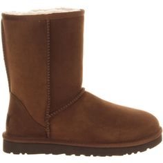 UGG Australia Classic Short Boots ($140) ❤ liked on Polyvore featuring shoes, boots, ankle booties, espresso nubuck, nubuck leather boots, nubuck boots, ankle boots, ugg australia and ugg australia boots