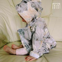 szara kurteczka - Gosia-Lisowska - Kurtki dla niemowląt
