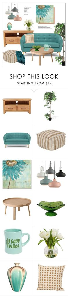 """Decor!"" by helenevlacho ❤ liked on Polyvore featuring interior, interiors, interior design, home, home decor, interior decorating, ALMERIA, Trademark Fine Art, Muuto and Blenko"