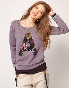 Enlarge Maison Scotch Sequinned 'A' Sweater