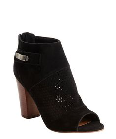 DV by Dolce Vita : black faux suede perforated detail 'Marana' ankle boots : style # 334345802