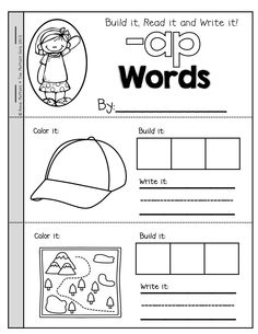 Round Up of Free CVC Word Family Cards & Writing Practice | Phonics ...