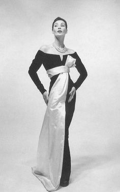 Yves Saint Laurent for Christian Dior, 1955 Vintage Dior, Vintage Mode, Vintage Couture, Vintage Glamour, Christian Dior Vintage, Fifties Fashion, Retro Fashion, Vintage Fashion, Victorian Fashion