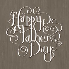 """for minted.com """"Greeting Card Challenge"""" - Handlettered Happy Father's Day by Becky Nimoy"""