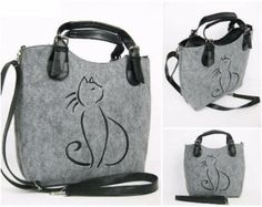 Large Felt bag with embroidery - LATEST COLLECTION Made of high- impregnated felt combined with ecological leather , decorated with embroidery. The bag closes with zipper. Inside the bag is covered with a lining. Pockets for documents and telephone. Outside additional pocket. Thick felt makes the bag retains original shape even when empty. It has a long adjustable strap . Dimensions: 28cm x 30cm x 8cm x max. 140cm (length of the straps)