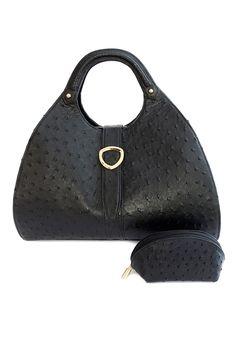 Contessa with make-up purse in Midnight Black. www.pedicollections.com Luxury Handbags, Pedi, Leather Handbags, Collections, Purses, Black, Fashion, Handbags, Moda