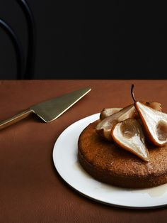 Tasty Tuesday · Polenta and Olive Oil Cake with Vin Santo Pears