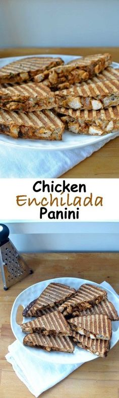 Chicken Enchilada Panini is a warm toasty fusion of melty grilled cheese stuffed with chicken smothered in a smoky homemade and a bit spicy enchilada sauce. Southwest flavors and spicypepper jack cheese come together in a warm ooey gooey sandwich for a quick and easy dinner that will make everyone smile :) Becky's Best Bites: