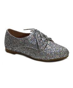 Another great find on #zulily! Silver Glitter Lynda Oxford #zulilyfinds