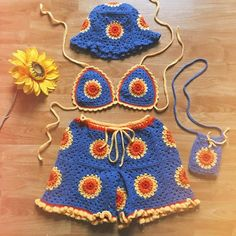 Crochet Top Outfit, Crochet Clothes, Baby Knitting, Crochet Baby, Knit Crochet, Crochet Flower Patterns, Sewing Patterns, Crochet Bikini Pattern, Swimsuit Pattern