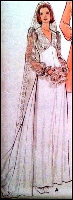 Butterick 4036 Misses' Bridal Gown Bust 31.5 by ThePatternShopp