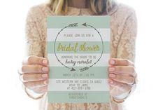 Printed OR Printable Bridal Shower Invitation // by RedLetterVows