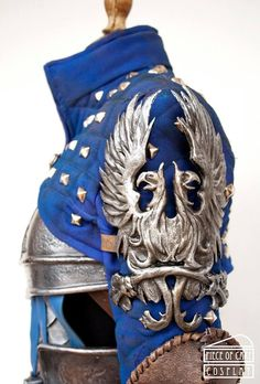 """Piece Of Cake Cosplay Grey Warden Armor from Dragon Age, December Foam, fabric, fake leather and resin. """"Just an idea for my jacket Armadura Medieval, Cosplay Armor, Cosplay Diy, Rogue Cosplay, Larp, Costume Armour, Grey Warden, Leather Armor, Knight Armor"""