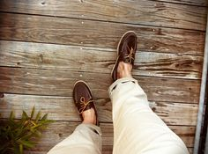 standard issue - Sperry Top-siders + Khakis