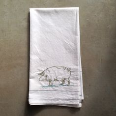 this little piggy is going to market    tea towel  by LeosDryGoods