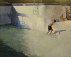 Escalera inalcanzable    José Luis Ceña Ruiz    Oleo sobre lienzo 80×100
