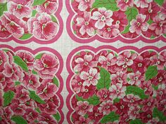 Vintage 1950s Floral Flowers Uncut by TheGatheringVintage on Etsy, $45.00