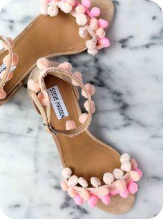 diy sandalias con madroños