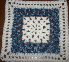 "-^^- FREE HOW TO --- pattern to crochet a ""Country Blues"" square"