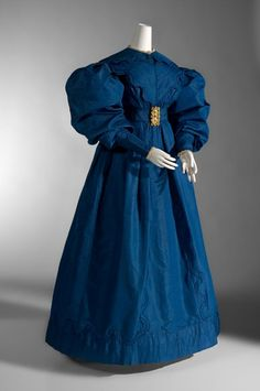 Ephemeral Elegance - c. 1830 carriage dress via National Gallery of Victoria.