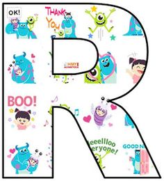 Tierno Alfabeto de Monstruos S. A. Monsters Inc. Alphabet.