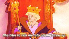 He acts like he doesn't like it Childhood Movies, Kid Movies, Cartoon Movies, My Childhood Memories, Odette Swan Princess, Princess Beauty, Disney Princess, Disney Xd, Disney Movies
