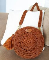 Best 12 Boho Crochet Bags – how to make your own OOAK bag – MotherBunch Crochet – SkillOfKingShell Rattan Bag from March Crochet Bag Pattern Ideas - Page 42 of Do not throw old jeans 🙂Crochet Lacey Charma Neck Warmer - Crotchet Bags, Crochet Tote, Crochet Handbags, Crochet Purses, Knitted Bags, Free Crochet, Purse Patterns Free, Crochet Patterns, Circle Purse