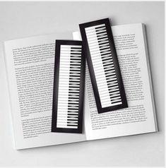 Piano Kitap Ayracı Ürün Görünümü - Piano Book Sticker Product View