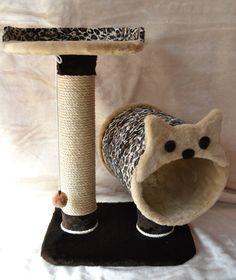 rascador gatos Cat Playhouse, Cat Gym, Cat Tree House, Diy Cat Tree, Cat Towers, Cat Scratching Post, Raining Cats And Dogs, Cat Condo, Pet Paws