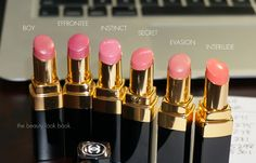 The Beauty Look Book: Chanel Fall 2013 Rouge Coco Shine and Rouge Coco: Instinct, Secret, Icône and Mystique Cute Lipstick, Chanel Lipstick, Chanel Makeup, Lip Makeup, Beauty Makeup, Neutral Lipstick, Lipstick Dupes, Glamour Makeup, Lipstick Swatches
