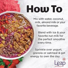 Have you been admiring all of these amazing smoothie bowls we've shared on our page but have absolutely no idea exactly how to use Leap? Don't worry cuz, WE GOTCHU! https://leapsmoothies.com/