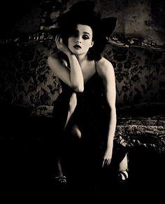 Helena Bonham Carter.   Beautiful, and i love that her husband always had Johnny Depp and Helena together