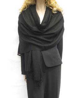 SCARVES- BLACK PASHMINA STOLE from Cashmere Pashmina Group in many vibrant colors (BLACK) Cashmere Pashmina Group,http://www.amazon.com/dp/B0013EOJMW/ref=cm_sw_r_pi_dp_AZ9Htb1VQT08DVQ8