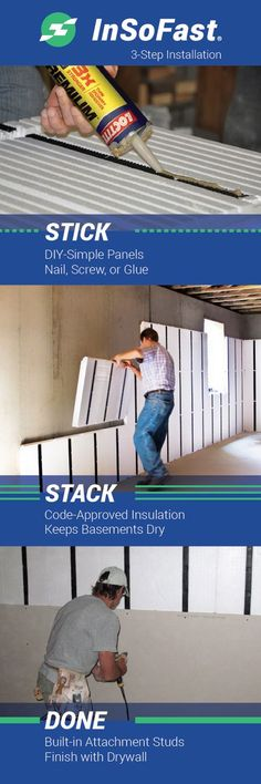 Speed through the boring stuff and get straight to the fun parts of your DIY remodeling project. InSoFast panels offer easy-to-install peace of mind for the longevity of your home. Basement Renovations, Home Renovation, Home Remodeling, Bathroom Remodeling, Basement Walls, Basement Flooring, Basement Ideas, Basement Decorating, Interior Decorating