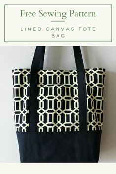 Here's a fabulous free pattern of how to make this sturdy and hard-wearing lined canvas tote bag. This grocery bag sewing pattern makes the ideal market tote Handbag Patterns, Bag Patterns To Sew, Sewing Patterns Free, Free Tote Bag Patterns, Free Sewing, Bag Pattern Free, Tote Pattern, Wallet Pattern, Diy Tote Bag