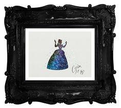 Cinderella archival fine art print Watercolor by TentakittyInk