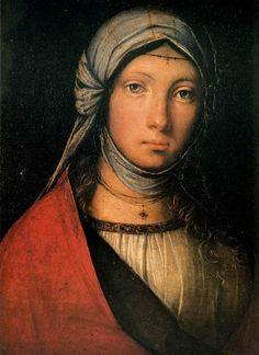 Gypsy Girl, Boccaccio Boccaccino, 1516-18, oil on panel. Tumblr