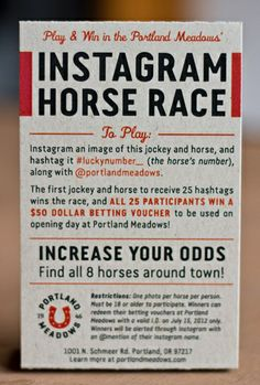 Portland Meadows: Guerrilla Marketing / The Official Manufacturing Company