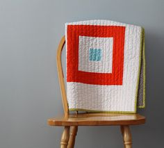 Four Squared Baby Quilt. $70.00, via Etsy.