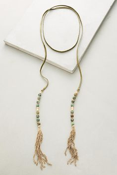 Beaded Suede Necklace | Anthropologie