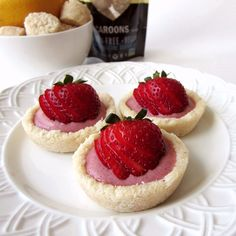 Sweet Grain-Free and Dairy-Free Recipes: Strawberry Lemon Creme Macaroon Tartlets