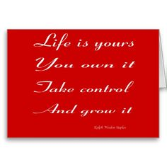 Life is yours card