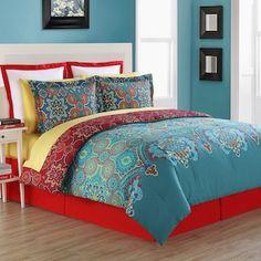 37 Trendy Bedroom Colors Schemes For Girls Comforter Bed Sets, Full Comforter Sets, Red Comforter, Bedroom Color Schemes, Bedroom Colors, Bedroom Decor, Bedroom Red, Trendy Bedroom, Bedroom Ideas